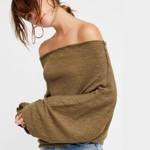 NWT! Free People Skyline Thermal Moss Green